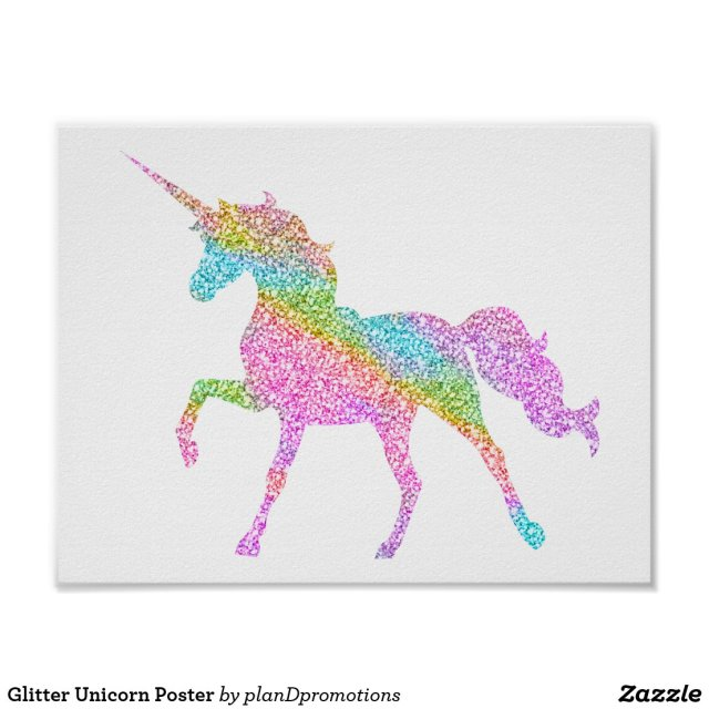 Glitter Unicorn Poster
