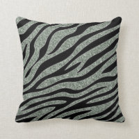 Glittered Zebra Print Cushion