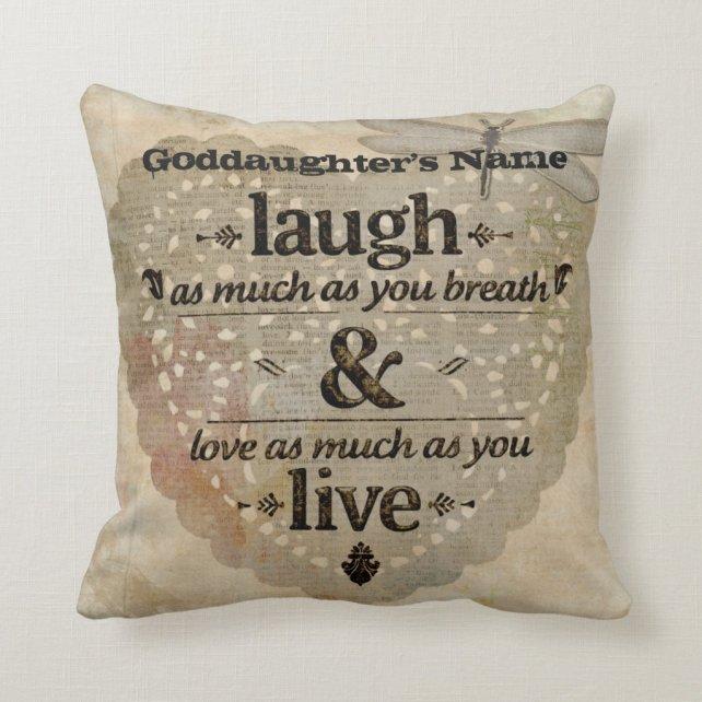 Goddaughter Gift Inspiring Angel Words Add Name