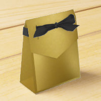 Gold Favour Box with Bow