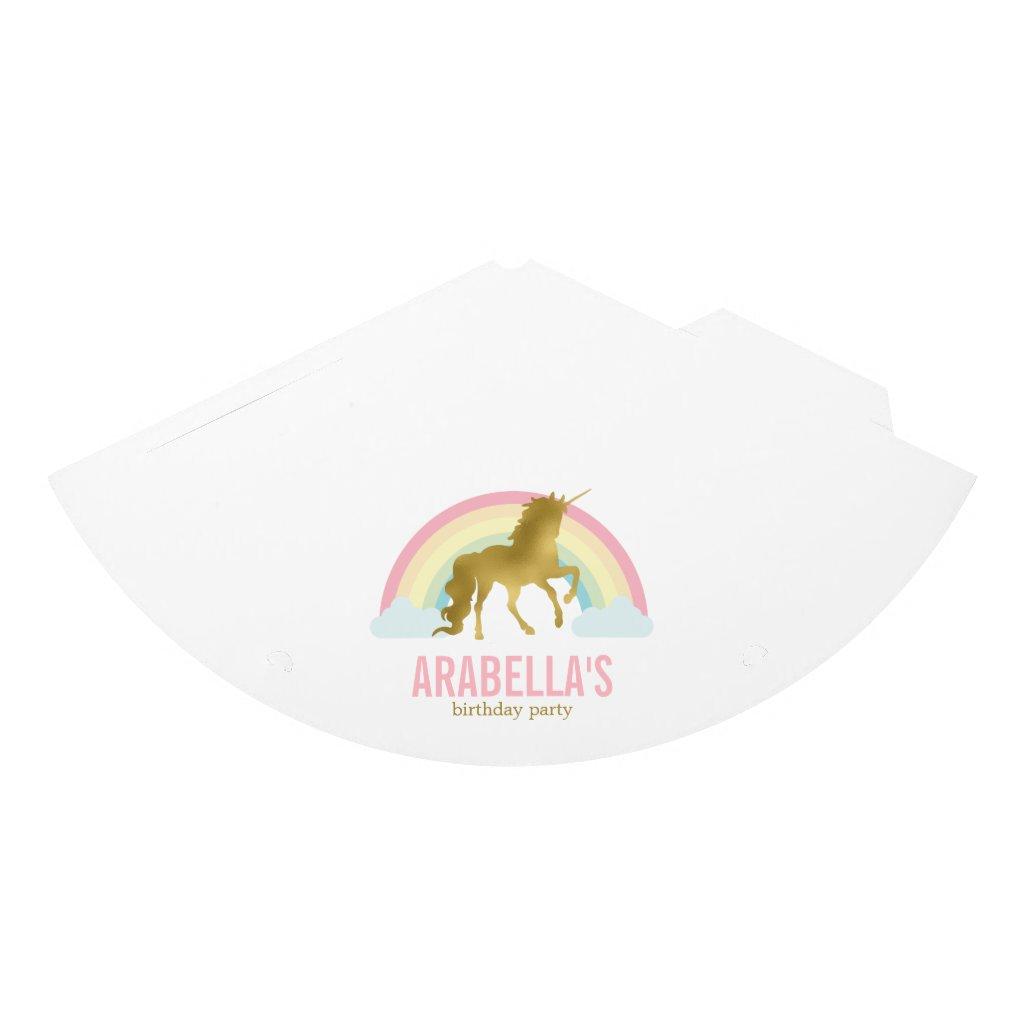 Gold Unicorn Girls Birthday Party Hats