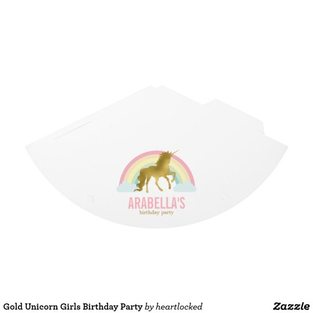 Gold Unicorn Girls Birthday Party Hats