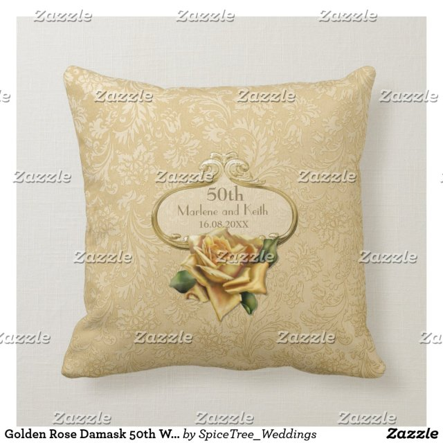 50th Wedding Anniversary Pillow