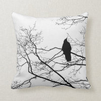 Gothic Raven Cushion
