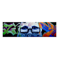 Graffiti Portrait Poster