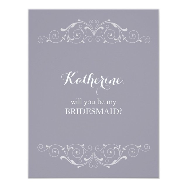 "Grand Soiree | ""Will you be my bridesmaid"" Card"