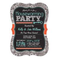 Chalkboard Housewarming Party Card