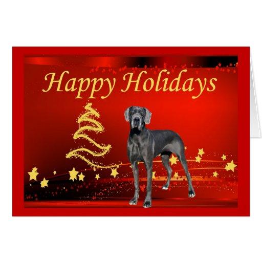 Great Dane Christmas Card Stars Zazzle