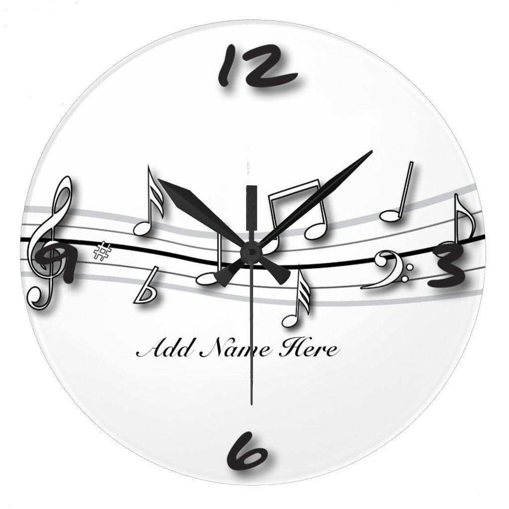 Musical Notes Clock