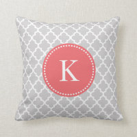Moroccan Pattern Monogram Pillow