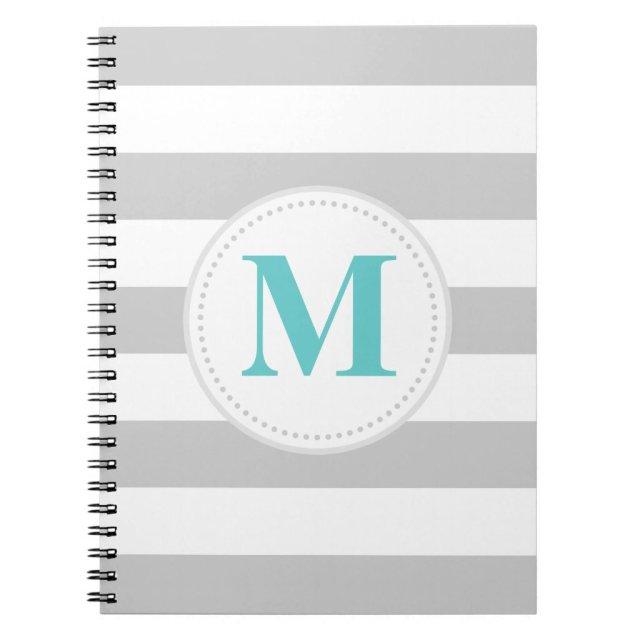 Grey Wide Stripe Notebook