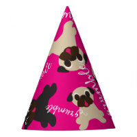 Grumble Grumble Fawn and Black Pugs Birthday Party Party Hat