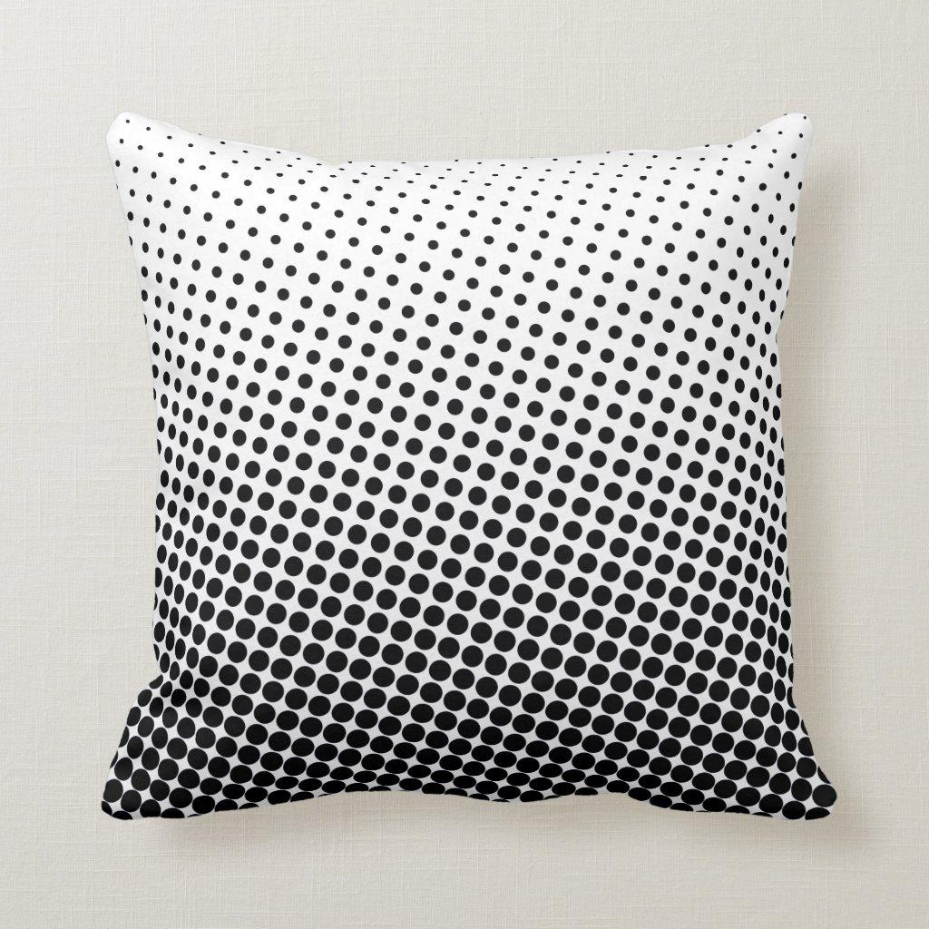 Halftone Pop Art Dot Pattern Black and White