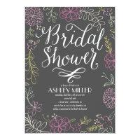 Handdrawn Botanicals | Bridal Shower Paper Invitation Card