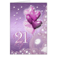 Happy 21st birthday balloons bright card