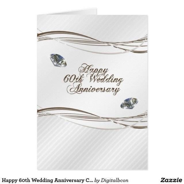 Happy 60th Wedding Anniversary Card