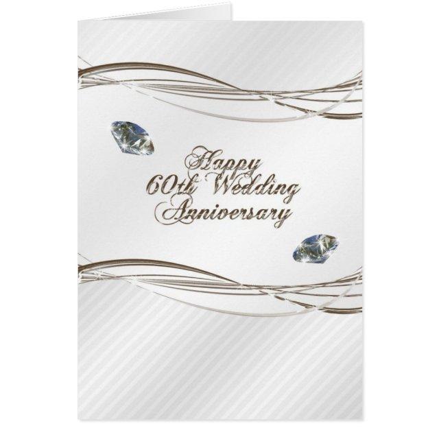 Happy 60th Wedding Anniversary Card