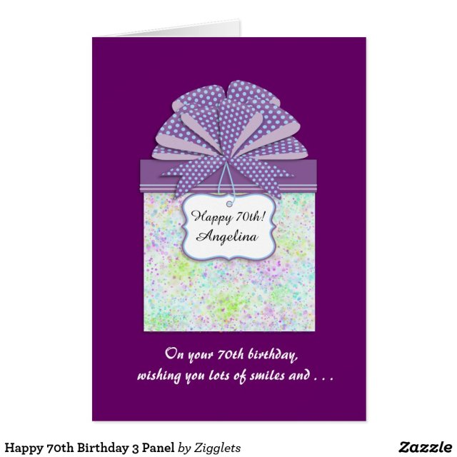 Happy 70th Birthday Card