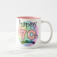 Happy 70th Birthday Two-Tone Coffee Mug