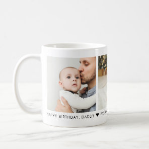 Happy Birthday Dad 3 Photo Personalised Coffee Mug
