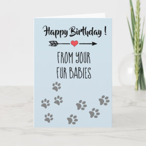 Happy Birthday from Dogs Cats Pets Multiple Card