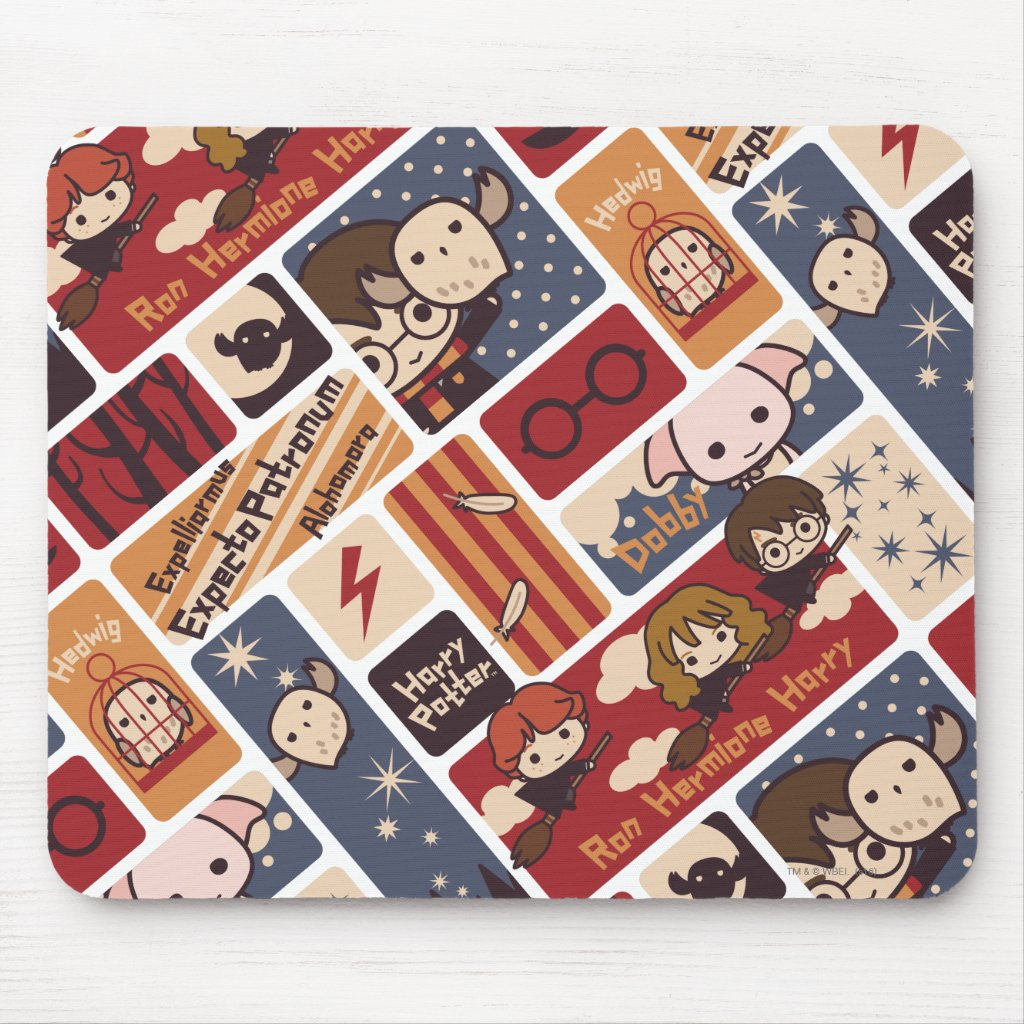 Harry Potter Cartoon Scenes Pattern Mouse Mat