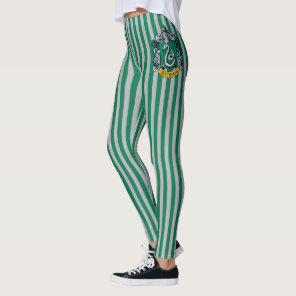 Harry Potter | Slytherin Crest With Gold Banner Leggings