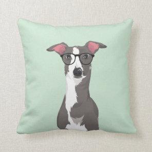 Hipster Italian Greyhound Dog for Dog Lovers Cushion