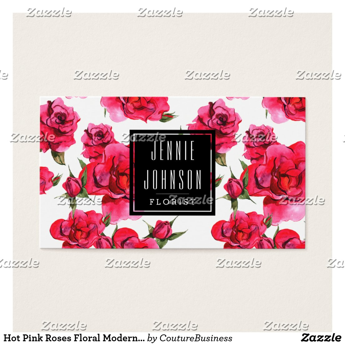 Roses Floral Business Card
