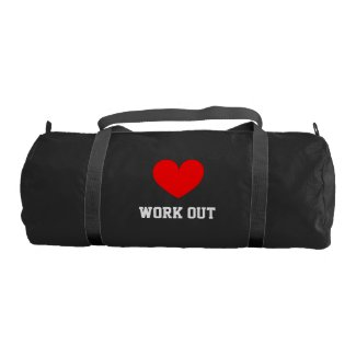 I Love work out gym bag