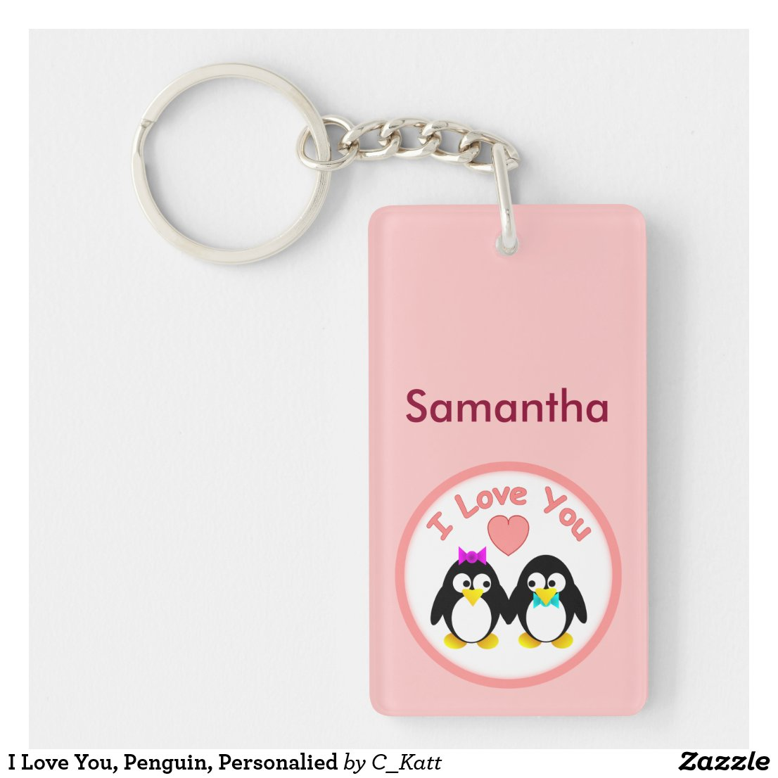 Personalised Penguin Keyring
