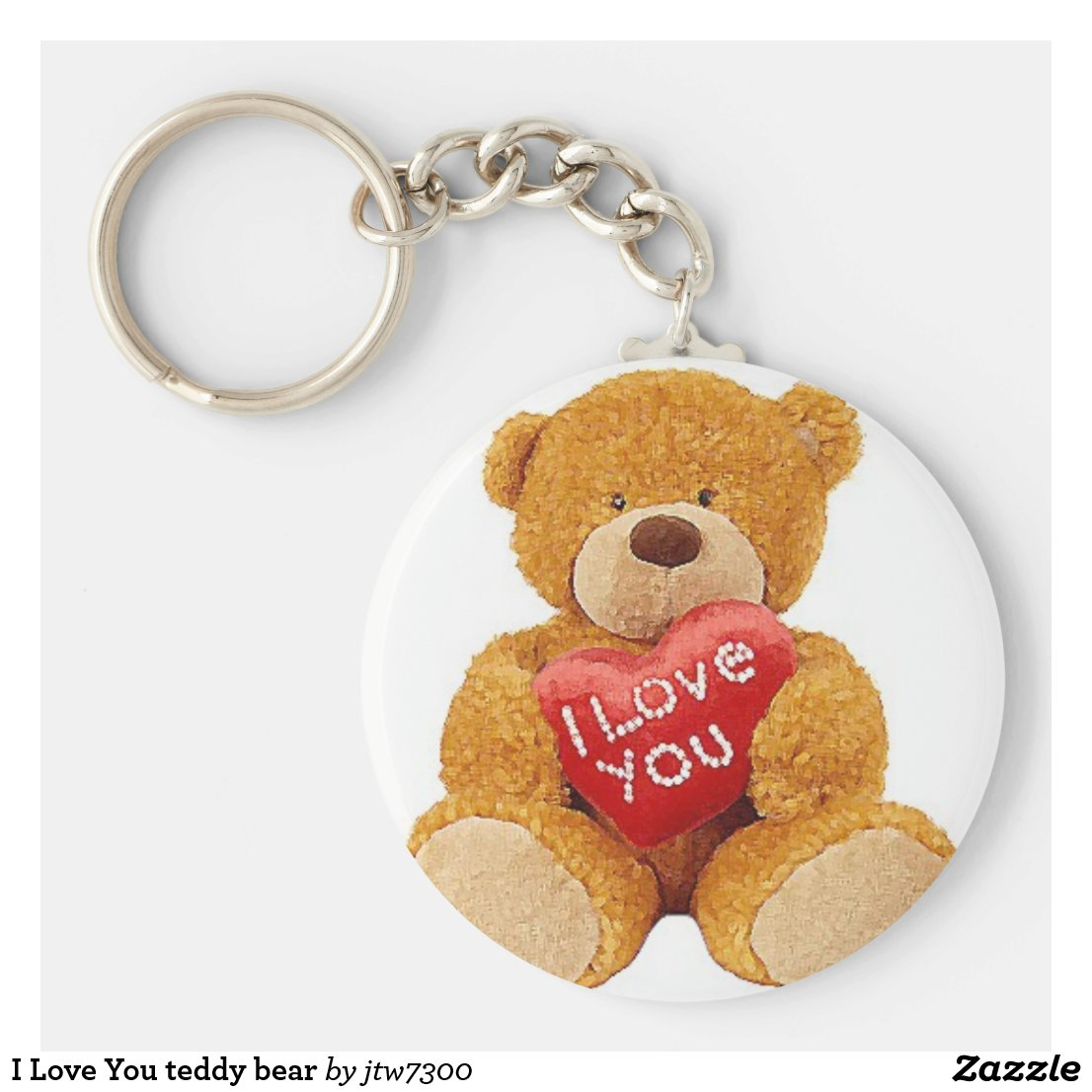 I Love You teddy bear Keyring