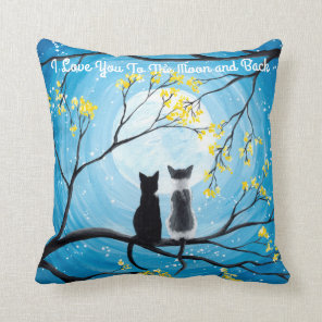 I Love You To The Moon and Back Cat Cushion
