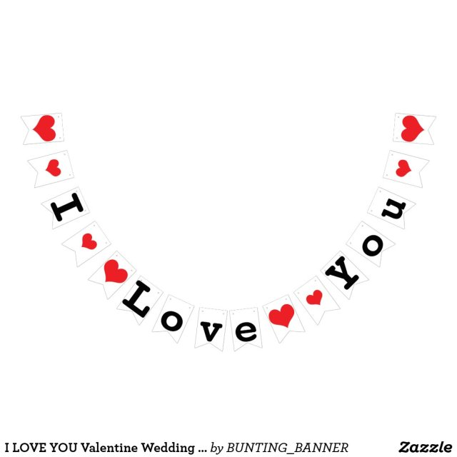I LOVE YOU Valentine Wedding Decor