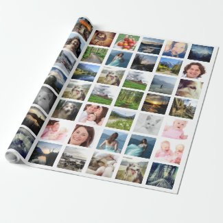 Instagram Photo Collage Wrapping Paper