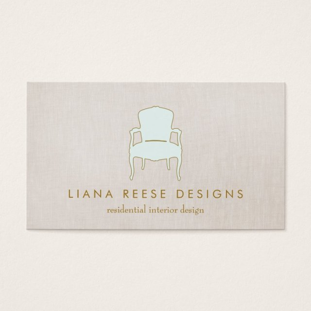 Interior Design French Chair Logo FAUX Linen