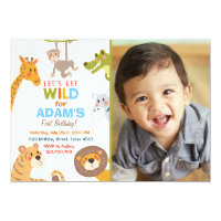 Jungle Safari Animal Birthday Party Invitation