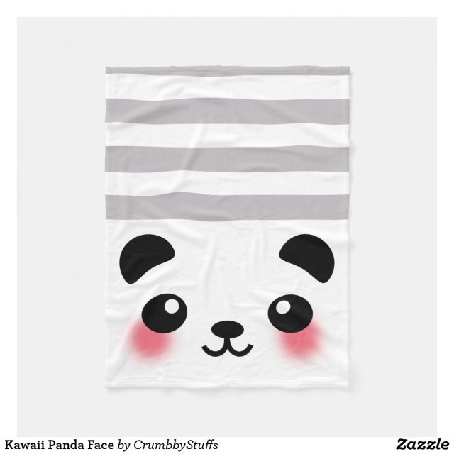 Kawaii Panda Face Blanket