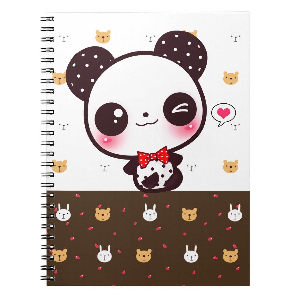 Kawaii panda notebook