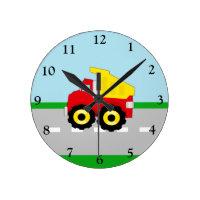 Construction Dumptruck Clock