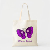 Named butterfly tote bag