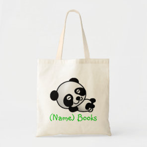 Kids named id panda book tote bag