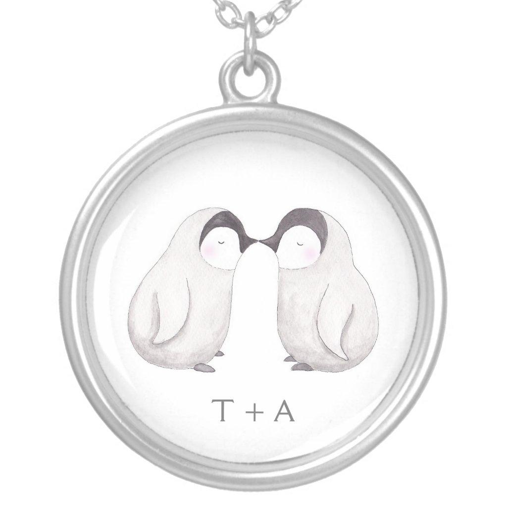 Kissing Penguin Necklace