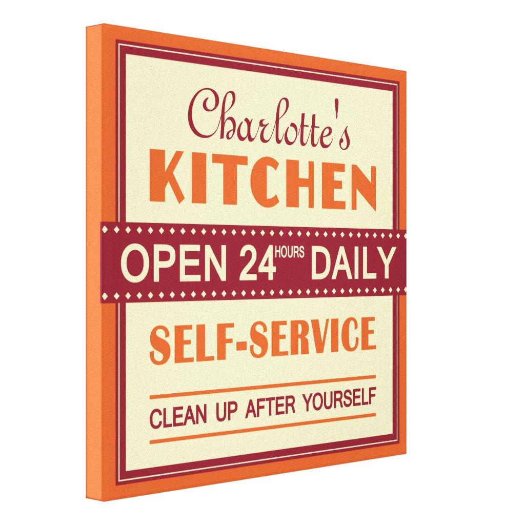 Kitchen canvas print