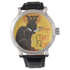 Le Chat Noir  Art Nouveau Wrist Watch