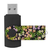 Lenten Rose Hellebore Flowers USB 64GB Flash Drive Swivel USB 3.0 Flash Drive