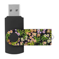 Lenten Rose Hellebore Flowers USB 64GB Flash Drive Swivel USB 3.0 Flash Drive