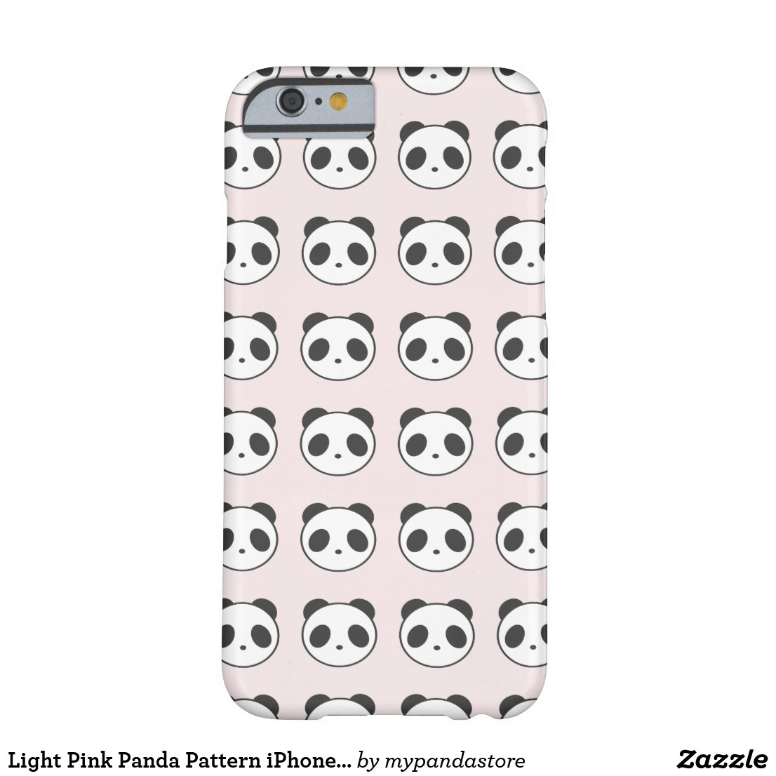Light Pink Panda Pattern iPhone Case