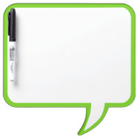 Lime Green Speech Bubble Wall Decor Customize This Dry-Erase Board