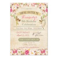 Little Fairy Birthday Invitation